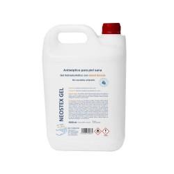 Neostex Gel - Gel hidroalcohólico con 80% etanol biocida - 5 Litros