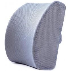 Cojín gris de soporte lumbar de espuma viscoelástica