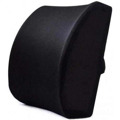 Cojín negro soporte lumbar de espuma viscoelástica